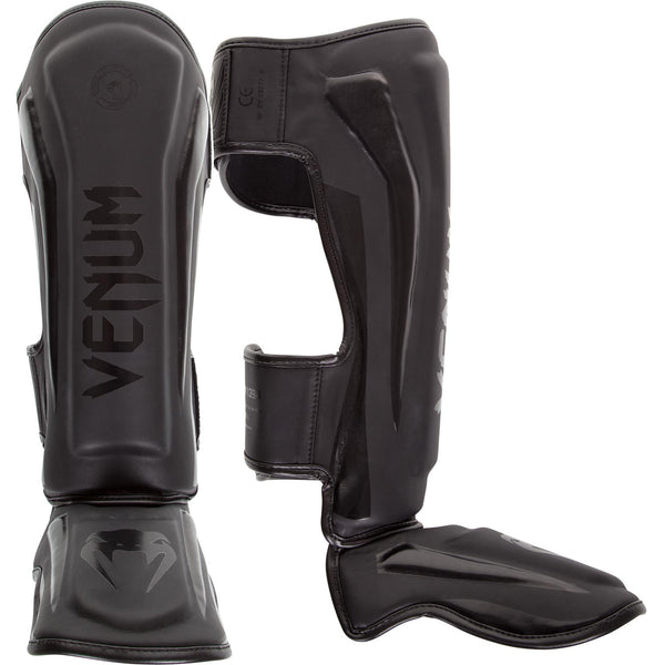 Venum Elite Standup Shinguards - Matte/Black