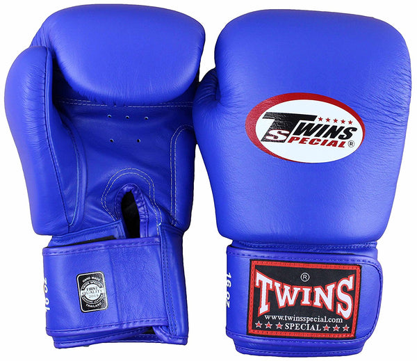 Twins Velcro Boxing Gloves - Blue