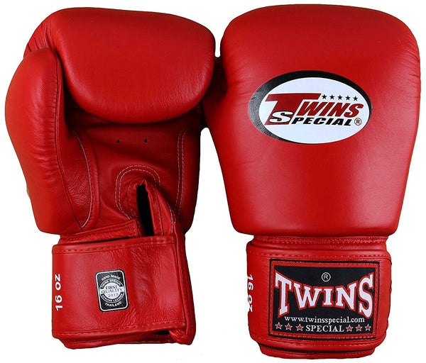 Twins Velcro Boxing Gloves - Red
