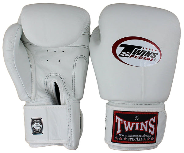 Twins Velcro Boxing Gloves - White