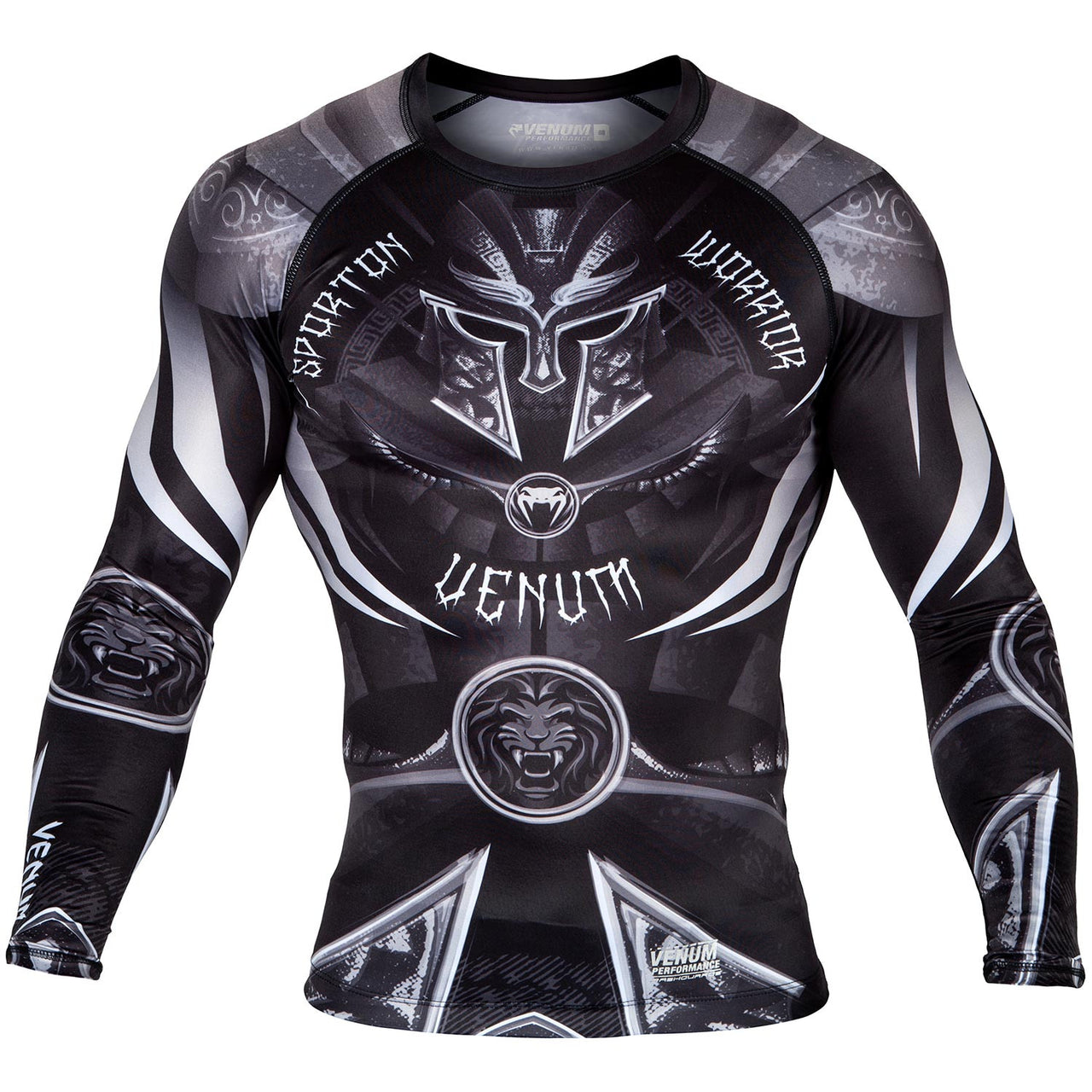 Venum Gladiator 3.0 Rashguard - Long Sleeves - Black/White