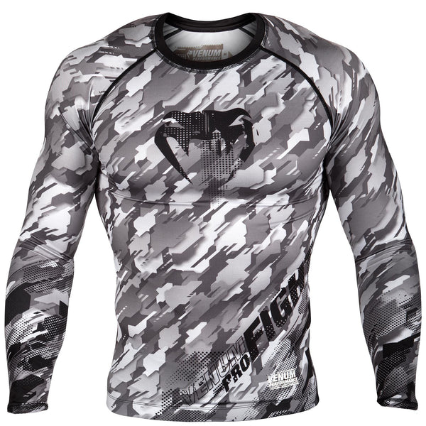 Venum Tecmo Rashguard - Long Sleeves - Black/Grey