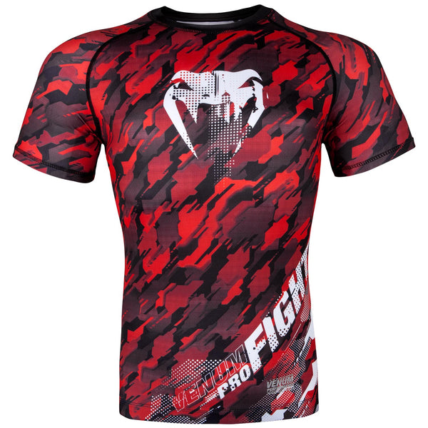 Venum Tecmo Rashguard - Short Sleeves - Red/White