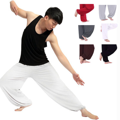 Mens' Wide Leg Tai Chi Pants