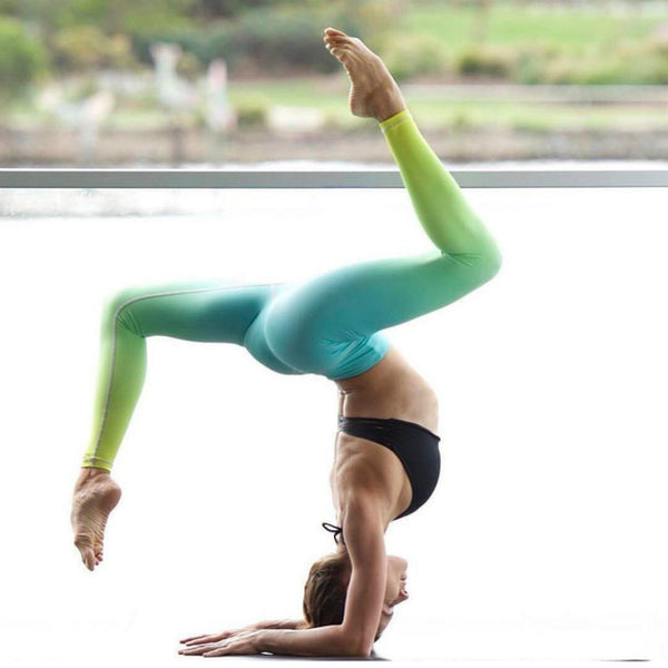 Stunning Gradient Color Yoga Leggings for Women