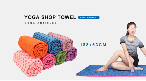 Non Slip Yoga Mats Cover Towel (Anti Skid Microfiber)