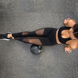 Mesh Patchwork - Sports Leggings
