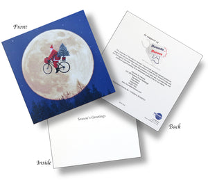 Christmas cards - 'Cycling Santa'