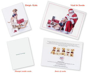 "Christmas Card - ""Sleigh Ride & Visit to Santa"""