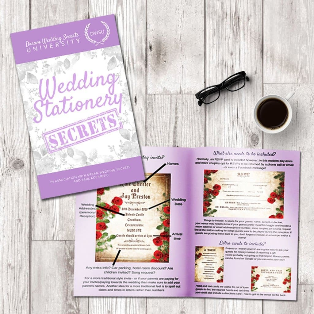 Dream Wedding Secrets - Dream Wedding Stationery Secrets Book Dws ...