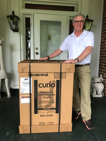 Cudo chair delivery to happy customer