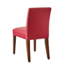 Apartment Scale Basil in Berry performance fabric (chair back)