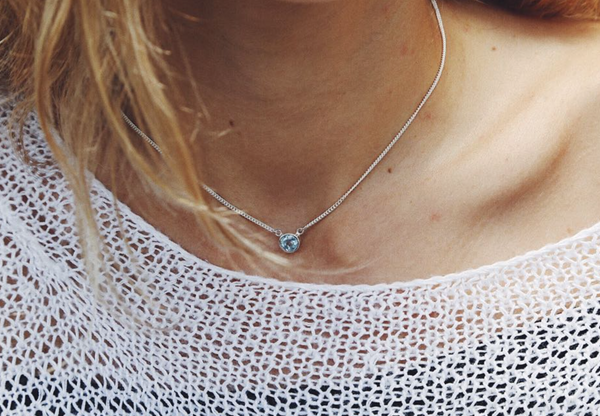Blue Topaz Necklace - Island Soul Silver Jewelry from Bali