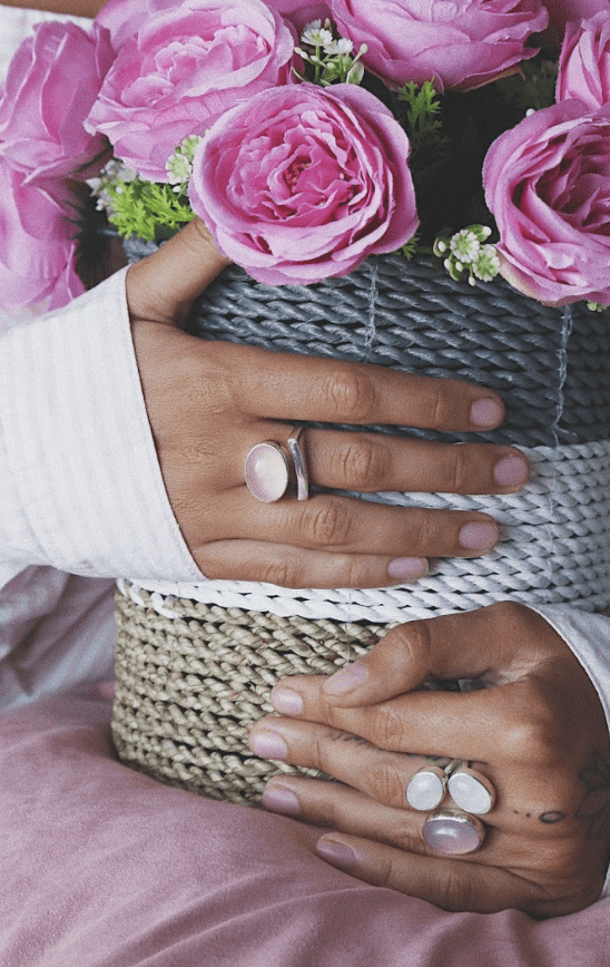 Rose Quartz Cloud Ring