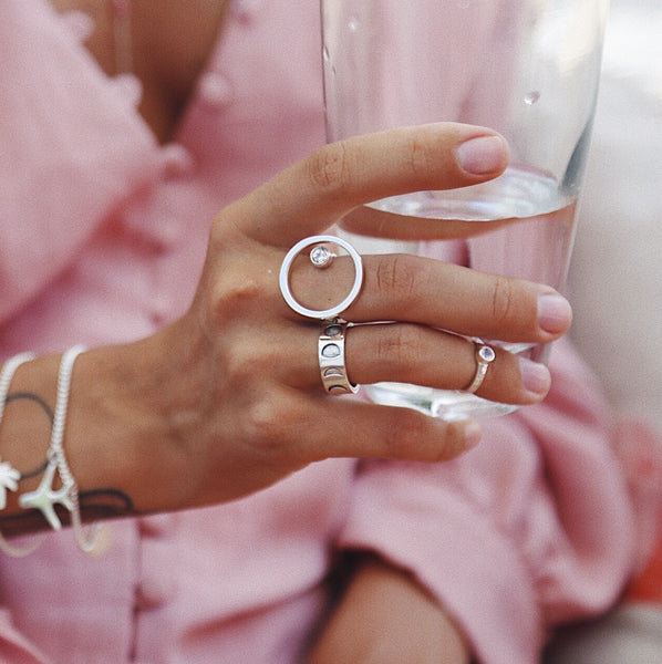 Ring with Lunar Cycle - Island Soul Silver Jewelry from Bali