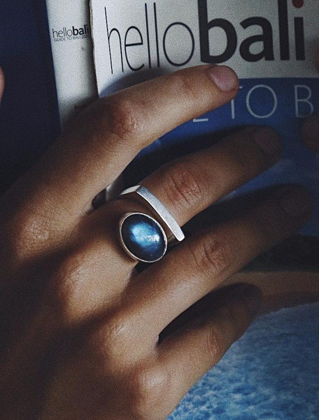 Ring Cloud with Labradorite - Island Soul Silver Jewelry from Bali