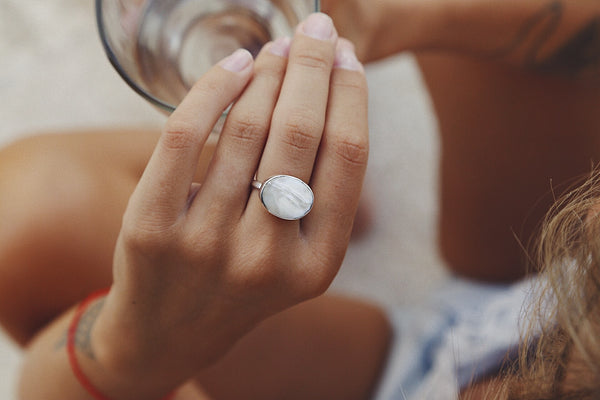 Mother of Pearl Ring - Island Soul Silver Jewelry from Bali