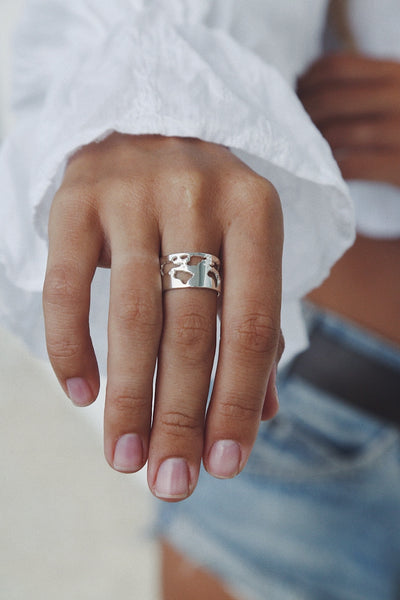 World Map Ring - Island Soul Silver Jewelry from Bali