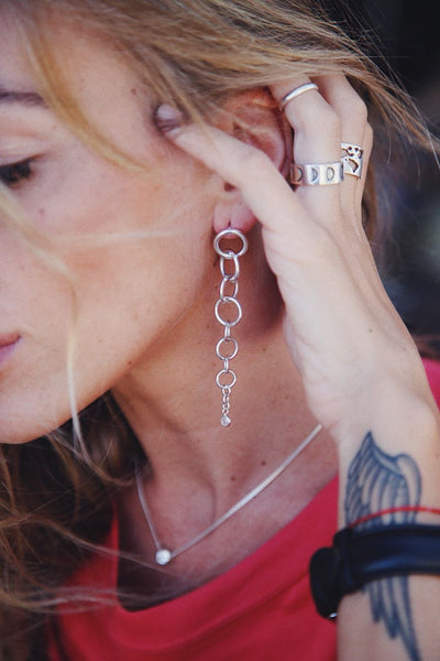 Grunge Earrings - Island Soul Silver Jewelry from Bali