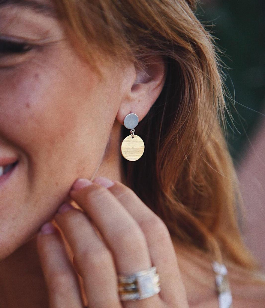 Silver and Gold Plated Earrings - Island Soul Silver Jewelry from Bali