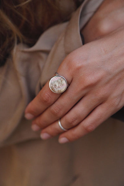Honey Mother of Pearl Ring