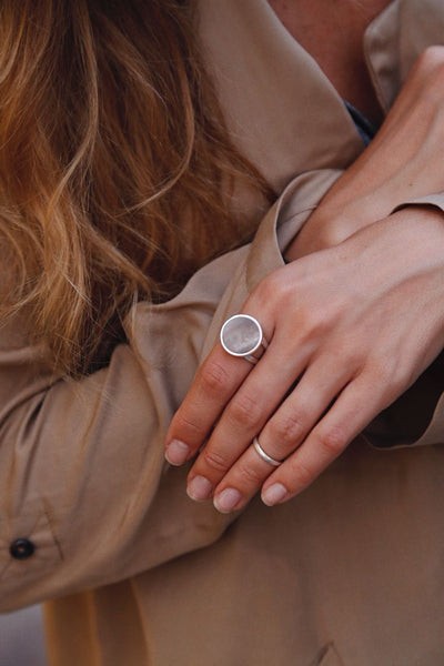 Honey Mother of Pearl Ring - Island Soul Silver Jewelry from Bali