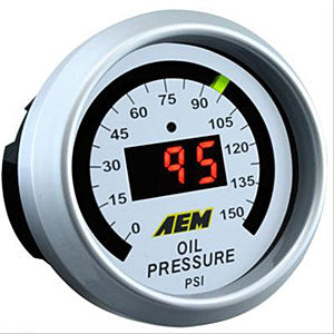 AEM DIGITAL GAUGE KIT: OIL PRESSURE (52MM)