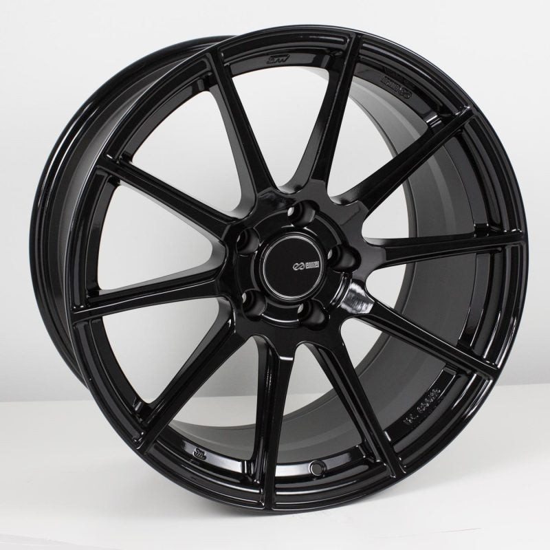 Enkei TS10 18x9.5 5x114.3 15mm Offset 72.6mm Bore Black Wheel