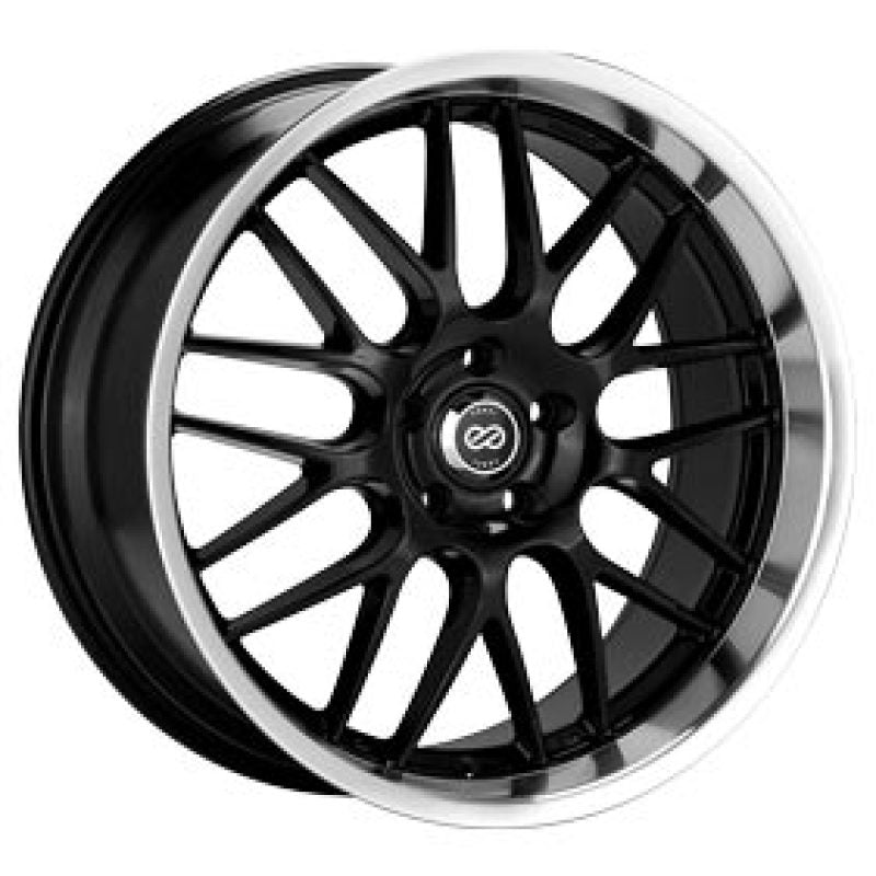 Enkei Lusso 20 x 8.5 40mm Offset 5x114.3 Bolt Pattern Black w/ Machine Lip Wheel