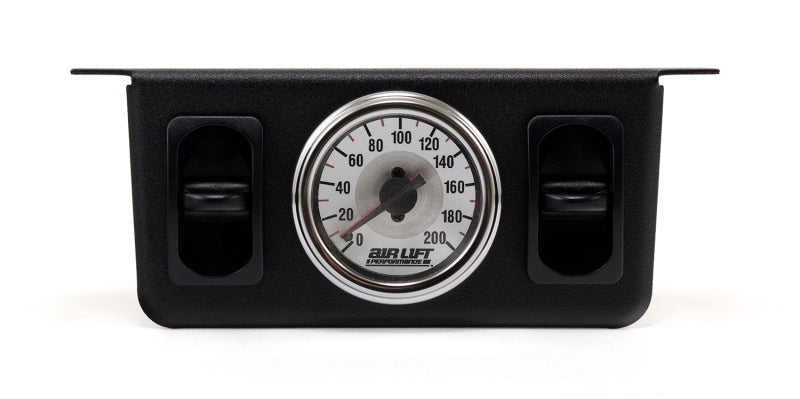 Air Lift Dual Needle Gauge With Two Paddle Switches- 200 PSI