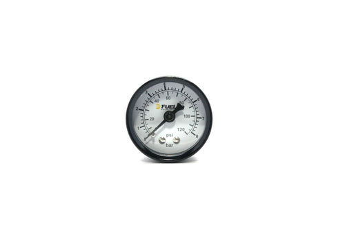 Fuelab 1.5in Fuel Pressure Gauge - EFI - Range 0-120 PSI (Dual Bar/PSI Scale)