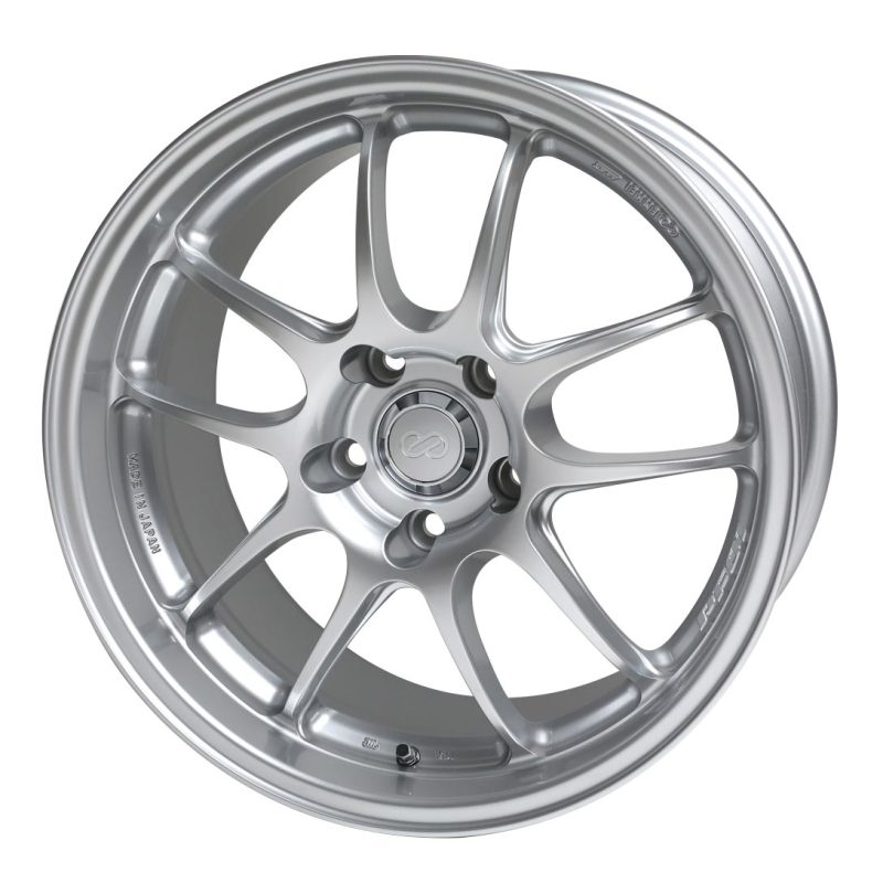 Enkei PF01 18x9 5x114.3 35mm Offset 75 Bore Dia Silver Wheel