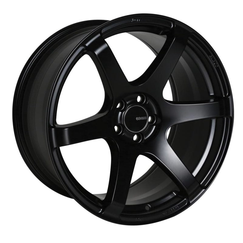 Enkei T6S 18x8.5 45mm Offset 5x100 Bolt Pattern 72.6 Bore Matte Black Wheel