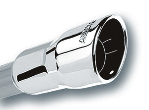 Borla 3in Inlet 4.25in Round Rolled Angle Cut x 4in Long Universal Exhaust Tips