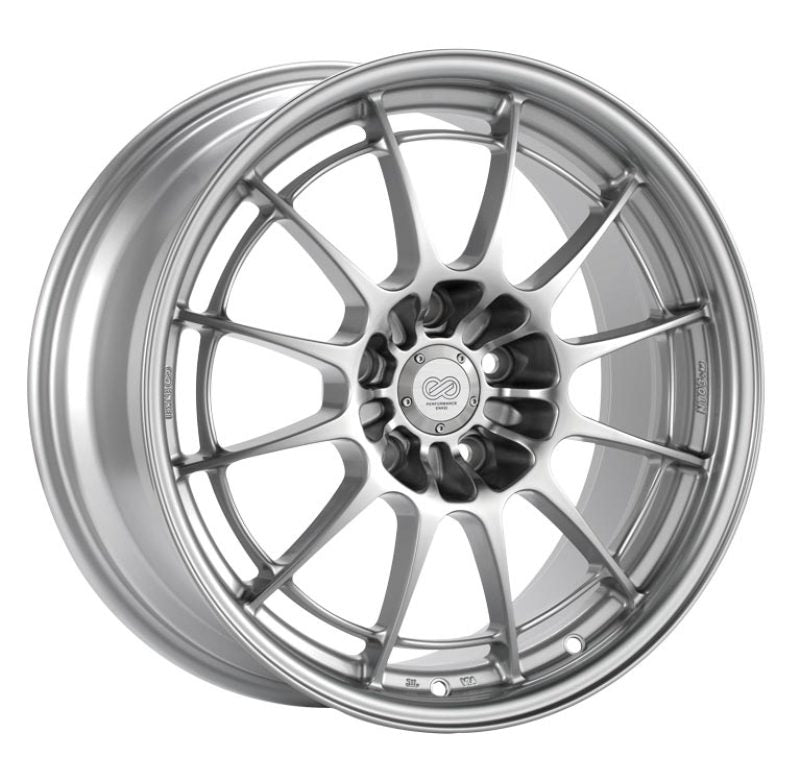 Enkei NT03+M 18x10 5x120 25mm Offset 72.6mm Bore Silver Wheel