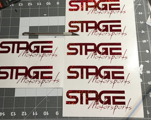 Stage Motorsports 6 in Decal - Sparkle