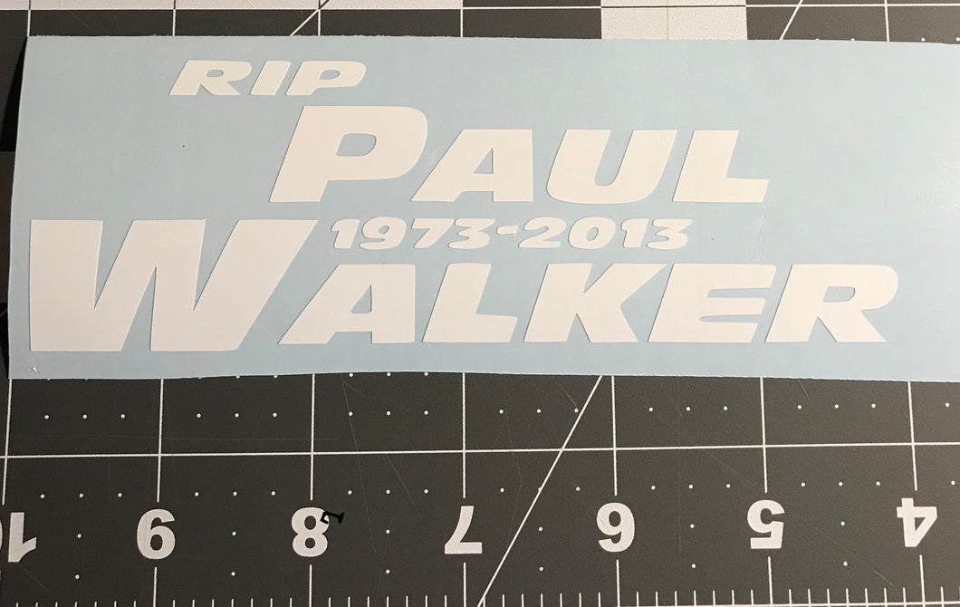 RIP Paul Walker Decal