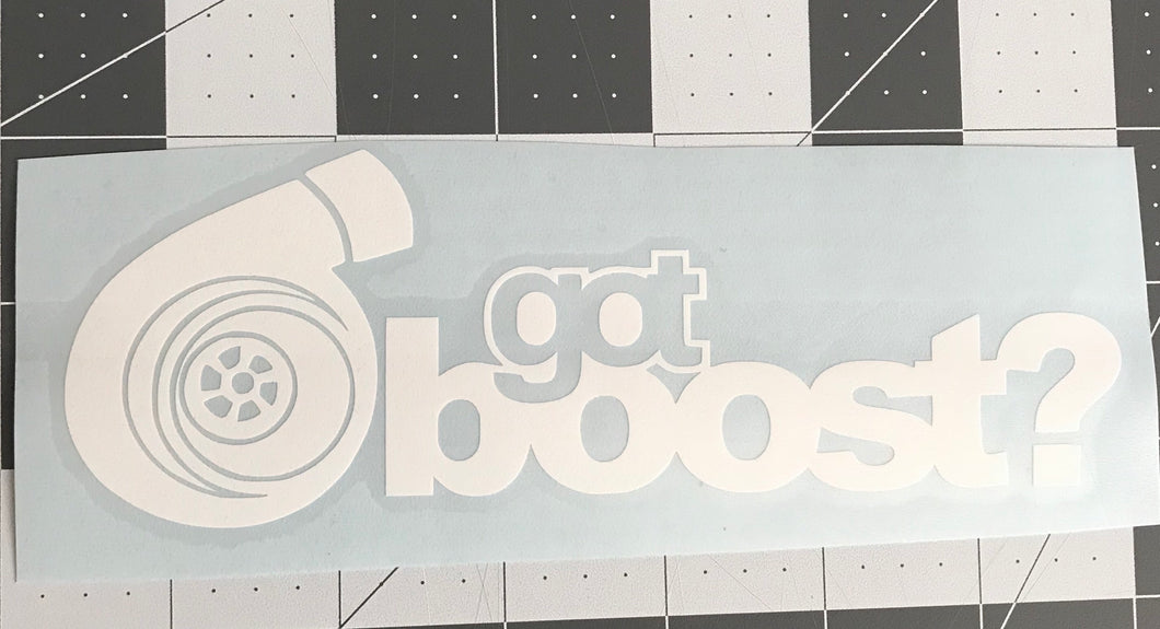 Got Boost? Decal
