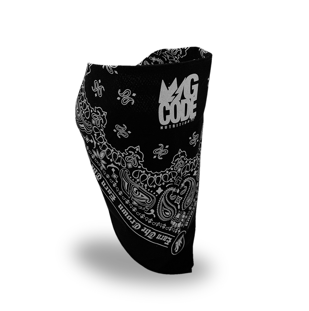 GCode Bandana (Black and White)
