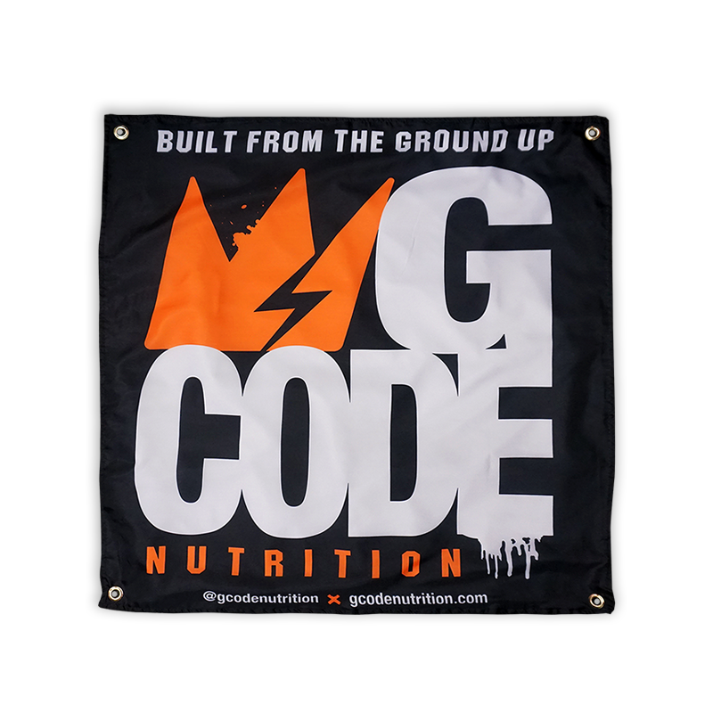 "GCode ""Built From The Ground Up"" Banner (SOLD OUT)"