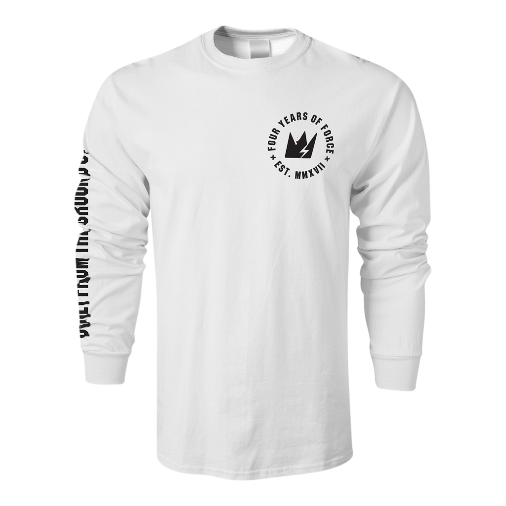"GCode ""Four Years Of Force"" White Long Sleeve"