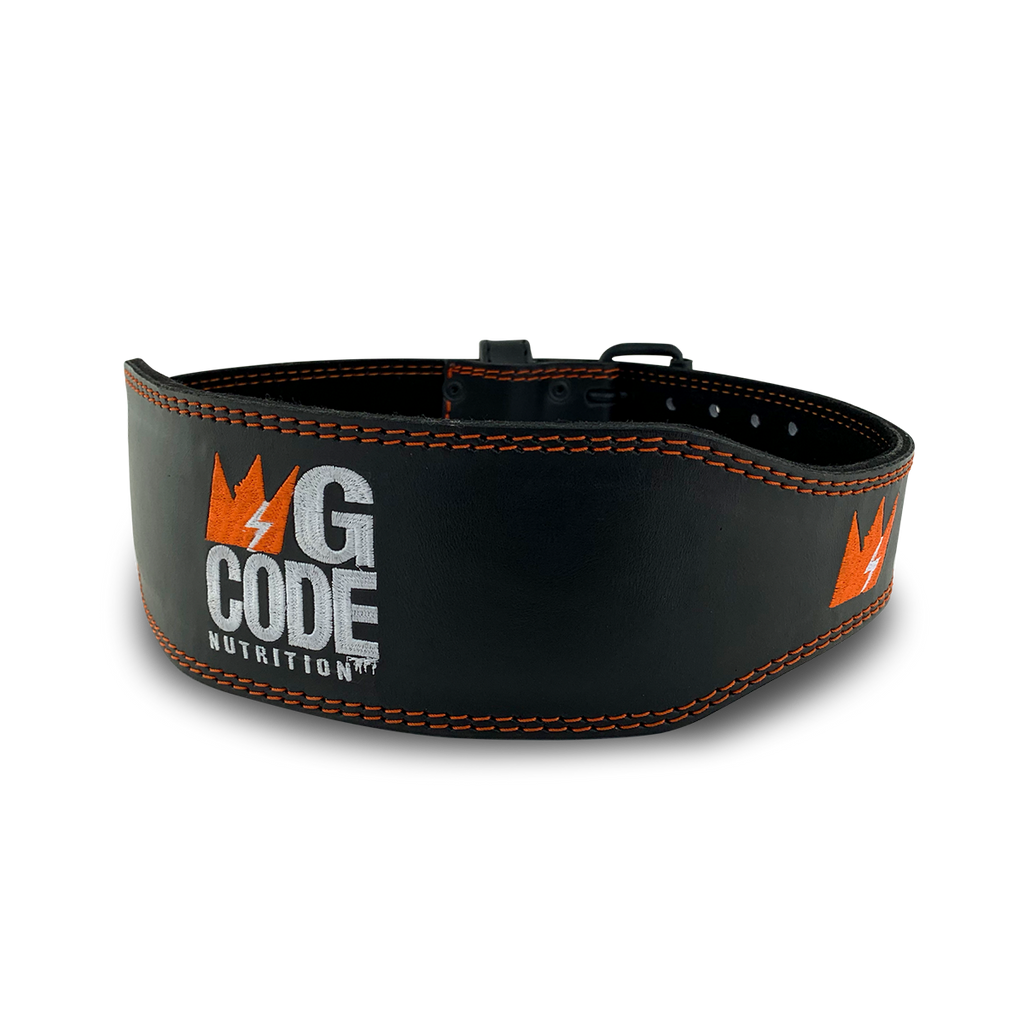 GCode Heavy Duty Lifting Belt (Black/Orange)
