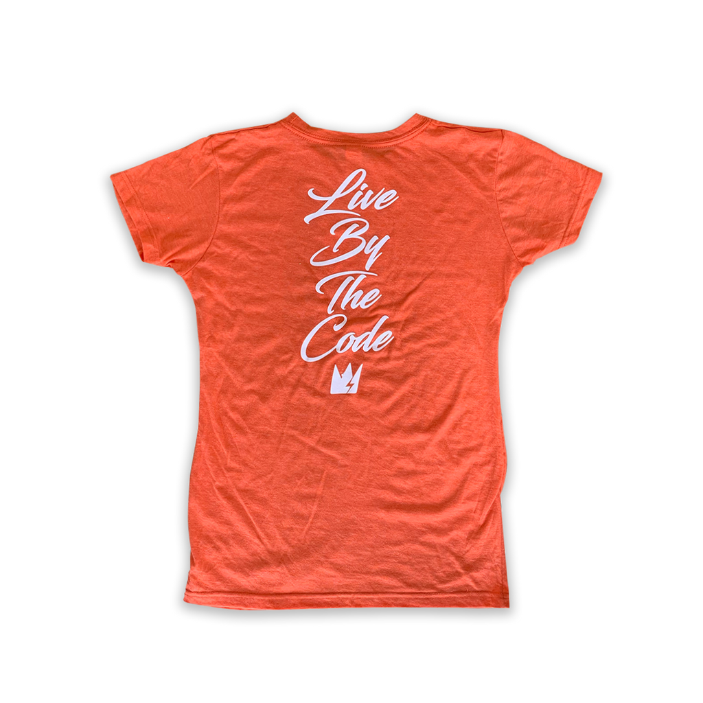 GCode Heather Orange Ladies Logo Shirt
