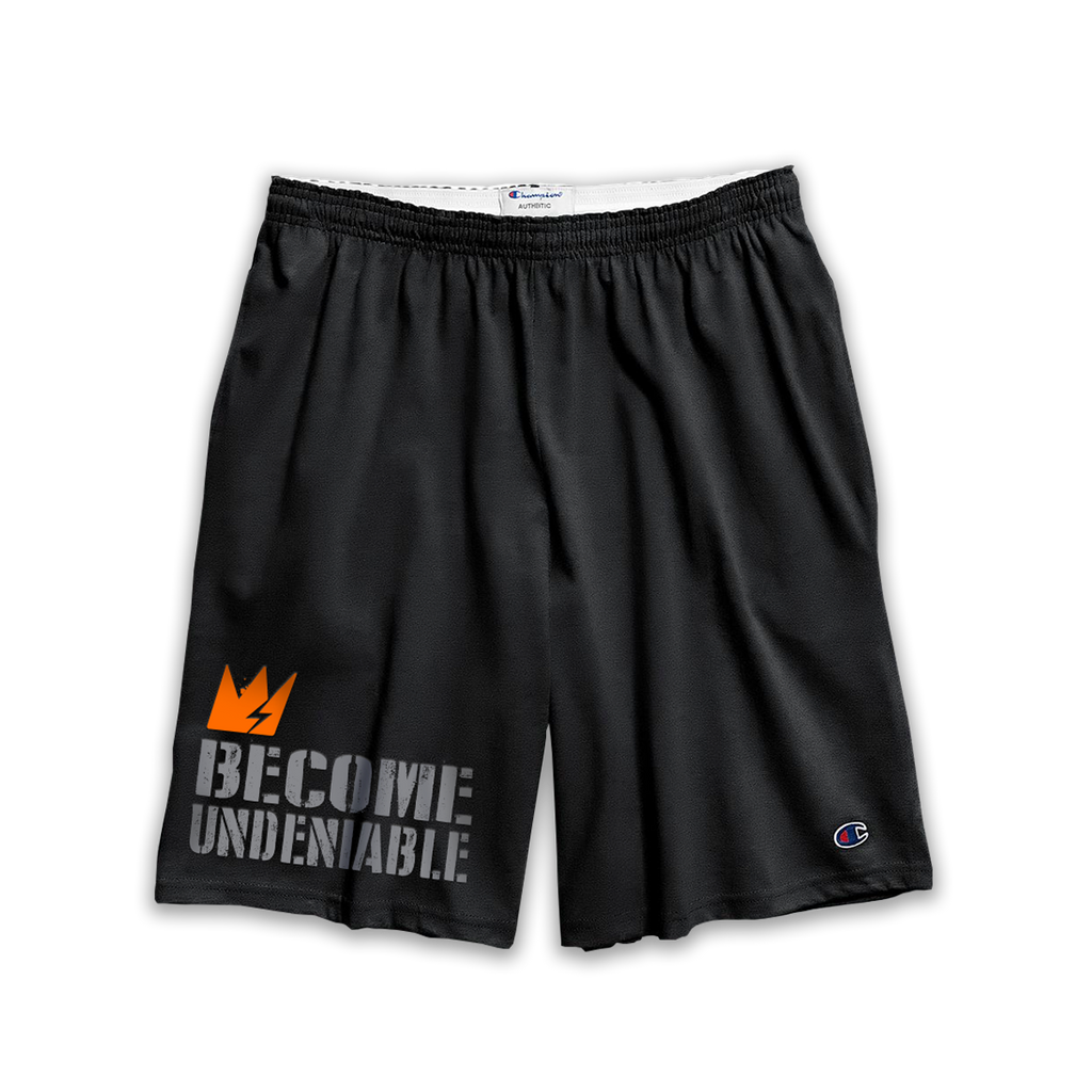 "GCode x Champion ""Become Undeniable"" Black Training Shorts (w/ pockets)"