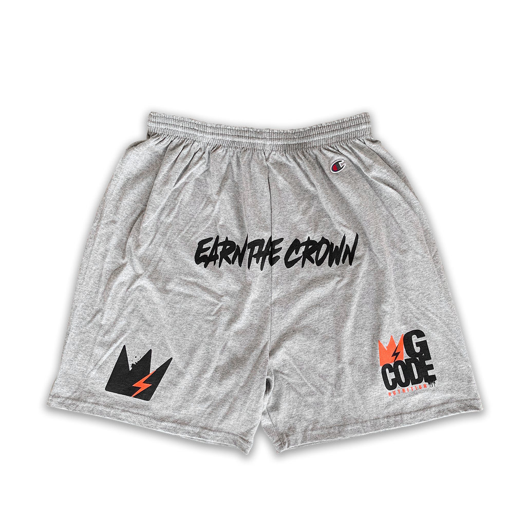 "GCode x Champion ""Earn The Crown"" Training Shorts (Heather Grey)"