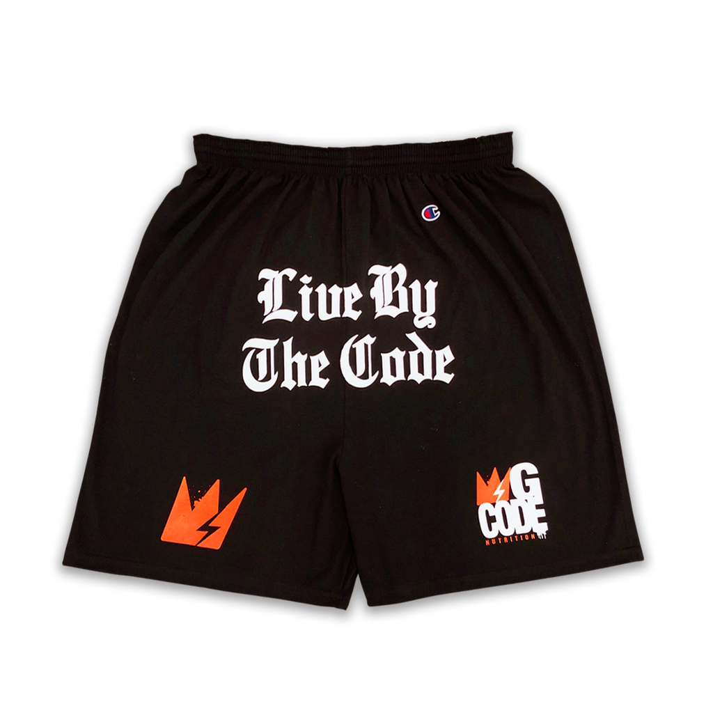 "GCode x Champion ""Live By The Code"" Training Shorts (Black)"