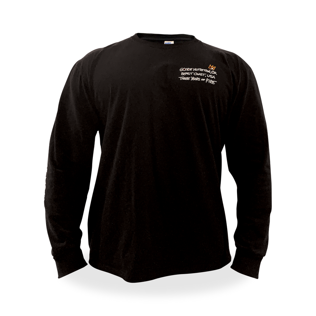 Three Years of FIRE Black Longsleeve T-Shirt