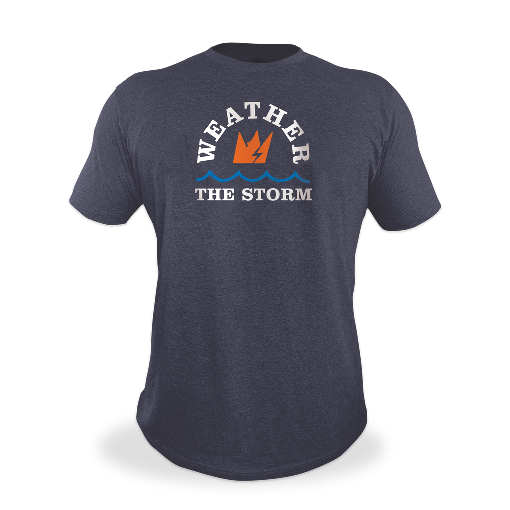 "GCode ""Weather The Storm"" Shirt (Heather Navy)"