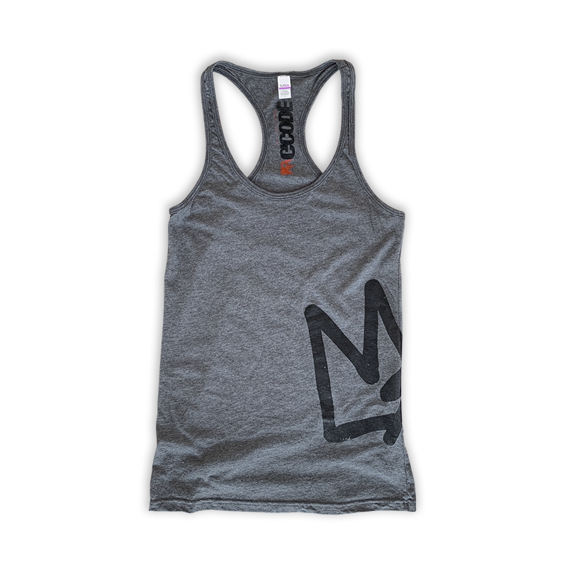 Graffiti Crown Ladies Racerback Tank