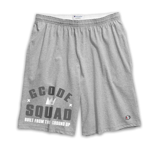 GCode x Champion SQUAD Training Shorts (Heather Grey)